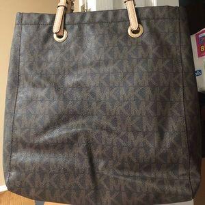 5bae678328fd ... germany michael kors bags michael kors signature mk dark brown large  purse 83401 24a52